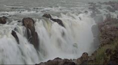 #India, #Jabalpur - The famous Dhuandhar Falls plunges down with a great speed and a thundering sound  http://www.nativeplanet.com/jabalpur/photos/5406/