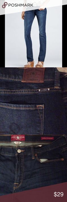 """Lucky Brand Sofia Straight Leg Jeans Pre-Owned Lucky Brand Sofia Straight Leg Jeans, inseam 31"""", These Sophia straight leg jeans a classic, blue denim color. Grab these lovelies at a great price! Lucky Brand Jeans Straight Leg"""