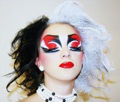 Cruella de Vil by Orsolya Szutor (Model: Edke) Make-up Contest (Theme: Movie) SZEGED-HUNGARY 16/11/2008