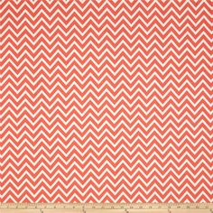 Premier Prints Cosmo Chevron Coral from @fabricdotcom  Screen printed on cotton duck; this versatile medium weight fabric is perfect for window accents (draperies, valances, curtains and swags), accent pillows, duvet covers and upholstery. Create handbags, tote bags, aprons and more. *Use cold water and mild detergent (Woolite). Drying is NOT recommended - Air Dry Only - Do not Dry Clean. Colors include coral orange and white.