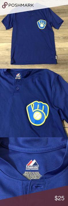 Vintage Milwaukee Brewers Men's Jersey / Shirt Jersey Shirt, Fashion Tips, Fashion Design, Fashion Trends, Blue Yellow, Tees, Shirts, Man Shop, My Favorite Things