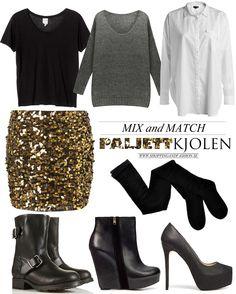 Mix and Match Clothes   Shopping & Fashion » Mix and match   Den guldiga paljettkjolen  