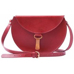 Toast Lizzy Saddle Bag ($375) ❤ liked on Polyvore featuring bags, handbags, shoulder bags, wine, red leather handbags, red leather shoulder bag, red handbags, red leather purse and leather shoulder bag