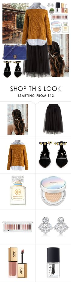 """""""Untitled #564"""" by ngkhhuynstyle ❤ liked on Polyvore featuring Chicwish, Fabrizio Viti, Christian Dior, Tory Burch, Laneige, Forever 21, CZ by Kenneth Jay Lane, Yves Saint Laurent and NARS Cosmetics"""