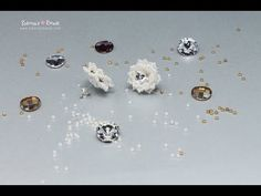 Snowflakes Earrings - Beading Tutorial by Sidonia - YouTube