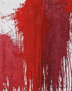 Hermann Nitsch / found on www.kunzt.gallery / Rot, 2014 / Glicée on canvas