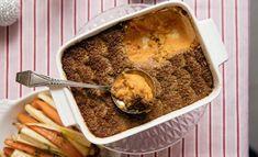 Suosittu bataattilaatikon ohje - helpolla ohjeella onnistuu Mashed Potatoes, Oatmeal, Pudding, Beef, Breakfast, Ethnic Recipes, Fit, Desserts, Christmas