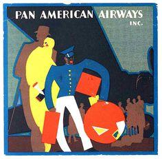 pan american airways label