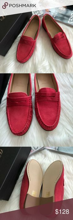 J.Crew James Suede Loafers 🌷Please Read the description! Thanks!🌷  Brand new with box.  Size: 8 Retail: $178 Color: soft fuchsia  G0887 Suede upper Leather lining  Man-made sole Made in Italy   Color may be slightly different bcz of lighting  🌈💯AUTHENTIC 🌈All sales are final 🚭Smoke & Pet free home 🙅NO TRADES  🙅NO HOLDS J. Crew Shoes Flats & Loafers