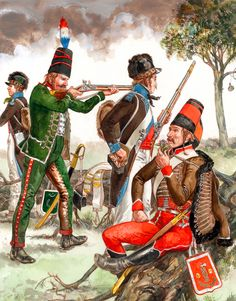 French hussars and chasseurs during the Irish Rebellion 1798