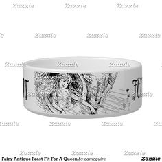 Shop Fairy Antique Feast Fit For A Queen Bowl created by camcguire. Customizable Gifts, Customized Gifts, Holiday Cards, Christmas Cards, Queen, Pet Names, Pet Gifts, White Elephant Gifts, Dog Bowls