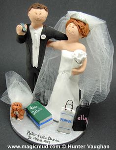 iphone Wedding Cake Topper  .... anybody out there love their iphone?...i do... and so does the groom in this figurine... he is also a big time Arsenals football / soccer fan.... $235#iphone#cel_phone#dog_veil#wedding #cake #toppers  #custom #personalized #Groom #bride #anniversary #birthday#wedding_cake_toppers#cake_toppers#figurine#gift