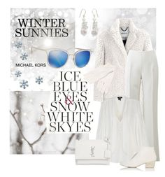 """Smartbuyglasses. Winter Sunnies/Ice Blue."" by tjclay3 ❤ liked on Polyvore featuring Kenzo, Michael Kors, Paige Denim, Yves Saint Laurent, Marsèll, White + Warren, NOVICA and smartbuyglasses"