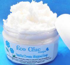 Creamy Whipped Soap - Vanilla Cream - Vegan via Etsy... So have to try this...