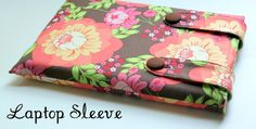 Oohh, pretty!  a nice laptop sleeve tutorial at The Cottage Home.