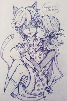 Ladybug e Cat Noir *0*
