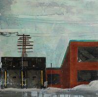 "Thumbnail of ""Julie St-Amand - Debarcadaire - Encaustic- 20 x Canadian Artists, Painters, Landscapes, Urban, Architecture, Gallery, Paisajes, Roof Rack, Architecture Illustrations"