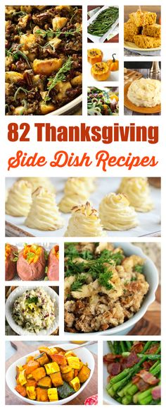 Consider Thanksgiving planned with this H U G E list of Thanksgiving Side Dishes. Those potatoes though!