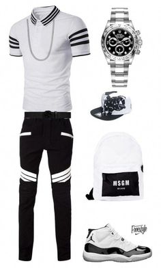 0ab1a14304db How you doin baby by tikitress on Polyvore featuring Balmain, Rolex, MSGM,  Gucci, County Of Milan, men's fashion and menswear #MensFashionSmart