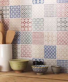 Divine Renovations Moroccan Tiles #Inspired #Splashback #Random #Colours
