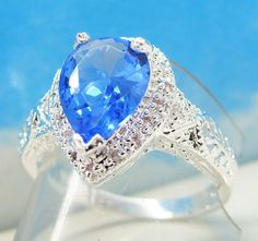 'Your Choice of Gorgeous Blue Topaz Rings - Size 6.5' is going up for auction at  7am Tue, Sep 25 with a starting bid of $6.