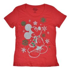 Disney Christmas Shirt: Mickey Mouse Red w/ Glitter Disney Christmas Shirts, Disney World Christmas, Mickey Christmas, Disney Ornaments, Christmas Travel, Disney Holidays, Christmas 2016, Disneyland Cruise, Shirts
