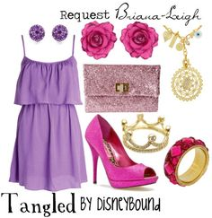 A personal request made for Briana-Leigh… Who has the dress I used before for Tangled but wanted an outfit she can wear to Disney. So my best advice…Lots and lots of glitter…and lots and lots of 'lots' :)