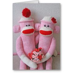 K&K Sock Monkeys Card