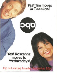 Home Improvement, Roseanne, Full Page Vintage Promotional Ad