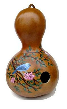 Painted Gourd Birdhouse  Bluebird in by #dteam  whatsingramasdrawers, $22.00