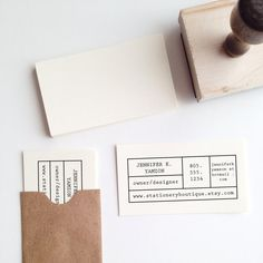 MakeYourOwn Business Card Stamp by stationeryboutique on Etsy, $35.00