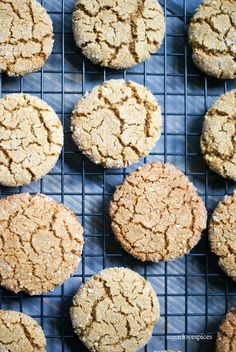 Gluten-free Ginger Molasses Cookies | SugarLoveSpices