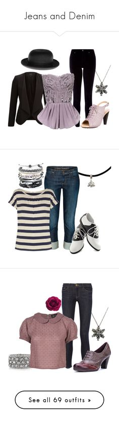 """Jeans and Denim"" by nevillerocks37 ❤ liked on Polyvore featuring SELECTED, Monsoon, Christys', Tod's, vintage, Domo Beads, Citizens of Humanity, Oasis, Pinup Couture and Mark Broumand"
