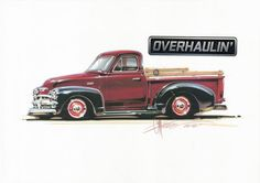 Chip Foose automotive design, custom cars, art and the Overhaulin' television show. Chip Foose, Chevy Pickup Trucks, Chevy Pickups, Old Trucks, Chevy Stepside, Vintage Trucks, Lifted Trucks, Audi Tt, Discovery Channel