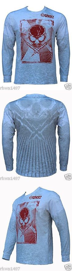 Other Mens Fitness Clothing 40892: Un92 Cross Skull Long Sleeve T-Shirts_White -> BUY IT NOW ONLY: $34.95 on eBay!