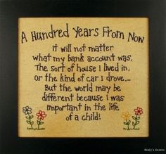 Primitive-Country-HUNDRED-YEARS-FROM-NOW-STITCHERY-Sign-Antique-Home-wall-Decor