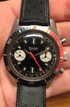 1970's #vintage bulova 666 diver #stainless steel chronograph #watch, View more on the LINK: http://www.zeppy.io/product/gb/2/111915773139/