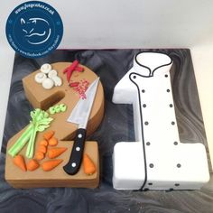 Chef themed Birthday Cake, made by The Foxy Cake Company! Birthday Cakes For Men, Themed Birthday Cakes, Themed Cakes, Roller Coaster Cake, Fondant Cakes, Cupcake Cakes, Cake Design For Men, Baking Birthday Parties, Chef Cake