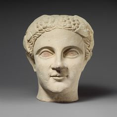 Limestone head of a wreathed youth   Cypriot   Classical, 4th century B.C.   The Met
