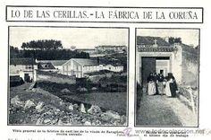 LA CORUÑA 1908 FABRICA CERILLAS VIUDA DE ZARAGÚETA Spain, Industrial, Plaza, Painting, Motorcycles, Cars, City, Historia, Old Photography