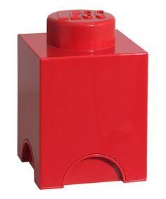 Look at this #zulilyfind! Room Copenhagen Red LEGO 1 x 1 Storage Brick by LEGO Storage #zulilyfinds  I want!!!