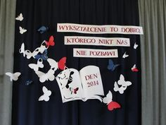 Polish Language, School Decorations, Origami, Diy And Crafts, Classroom, Education, How To Make, School, Bachelor's Degree