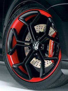 Here it is: our exclusive look at Volkswagen's SEMA 2006 concept car, the R GTI - Eurotuner Magazine Rims For Cars, Rims And Tires, Vw Cars, Wheels And Tires, Car Wheels, Vw Golf Tdi, Golf 7 Gti, Volkswagen Golf Mk2, Passat B7