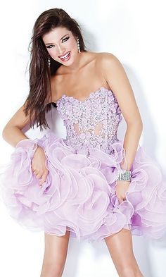 """this """"homecoming dress"""" reminds me of toddlers and tiaras. i wouldn't wear this."""
