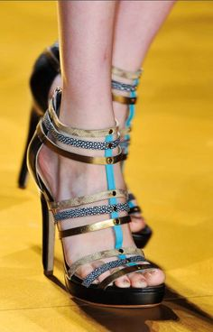 Fashion : Spring 2014 shoes.great strapping and platform (thank you) but unless stretch...afraid small frame would miss out