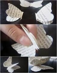 Resultado de imagem para paper butterfly decorations make