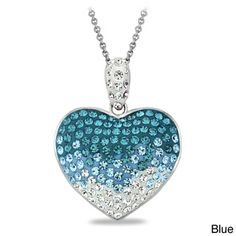Crystal Ice Crystal Heart Necklace with Swarovski Elements | Overstock.com Shopping - The Best Deals on Crystal, Glass & Bead Necklaces