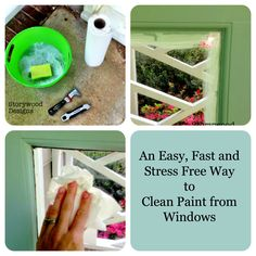 An Easy, Fast and Stress Free Way to Clean Paint from Windows!