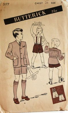 1940s boys clothing