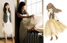 Nancy Zhang - Chloé Tutu Skirt, Vintage Vest - Peaceful...